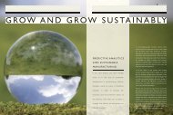 GROW AND GROW SUSTAINABLY