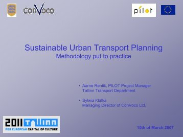 Sustainable Urban Transport Planning - Tallinn