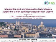 Information and communication technologies applied to urban ...