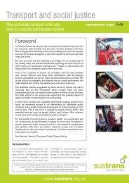 Transport and social justice - Information sheet FF46