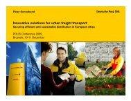 Innovative solutions for urban freight transport - Deutsche Post DHL