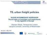 TfL urban freight policies