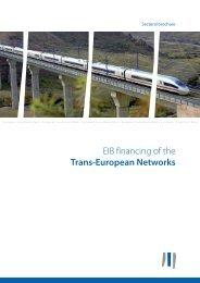 EIB financing of the Trans-European Networks