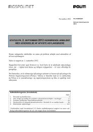 status pr. 2. september 2012 vedrørende arbejdet med ... - Politiets
