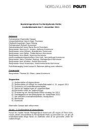 Referat af kredsrådmøde den 7. december 2011 - Politiets