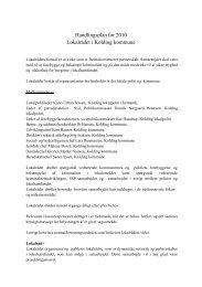 Handlingsplan for 2010 Lokalrådet i Kolding kommune - Politiets