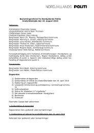 Referat af kredsrådsmøde den 10. august 2010 - Politiets