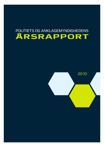 Politiets og Anklagemyndighedens Årsrapport 2010