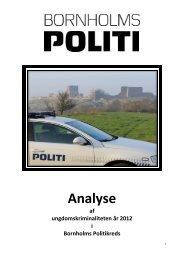 Kriminalitetsanalyse 2012 - Politiets