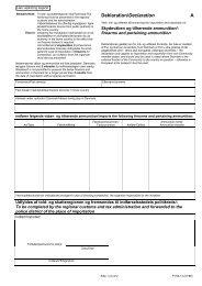 Ansøgning om tilladelse ind- og udførsel af ... - Justitsministeriet