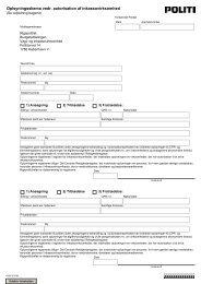 Oplysningsskema vedr. autorisation af inkassovirksomhed - Politiets