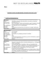 Bilag til samarbejdsplan 2009 - Politi