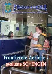 Frontierele Aeriene - evaluate SCHENGEN - Politia de Frontiera