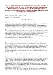 Legea nr. 238/2009 privind reglementarea prelucrarii datelor cu ...