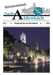 Nr. 3 Wissenswertes aus dem Rathaus 2010 - Markt Aidenbach