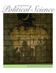 2011 graduate student guide - Department of Political Science ...