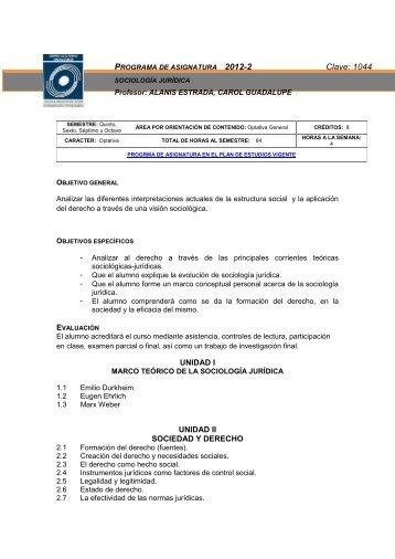 Sociología Jurídica - Facultad de Ciencias Políticas y Sociales ...