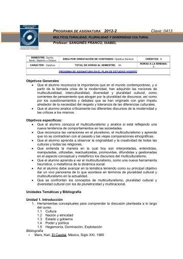 multiculturalidad, pluralidad y diversidad cultural - Facultad de ...