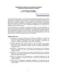 Análisis cuantitativo - Facultad de Ciencias Políticas y Sociales