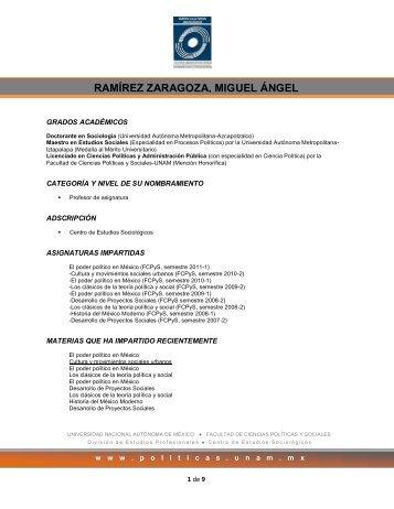 ramírez zaragoza, miguel ángel - Facultad de Ciencias Políticas y ...