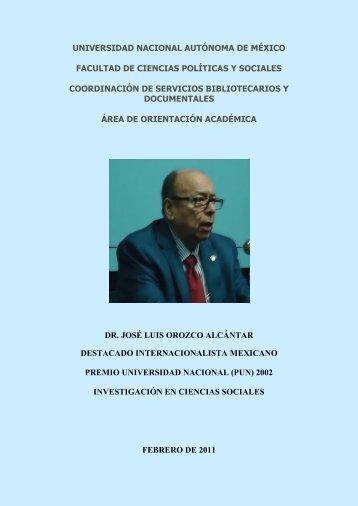 José Luis Orozco Alcántar - Facultad de Ciencias Políticas y ...