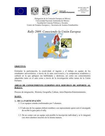 Rally 2009. Conociendo la Unión Europea - Facultad de Ciencias ...