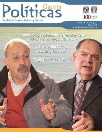 Politicas 236.indd - Facultad de Ciencias Políticas y Sociales ...