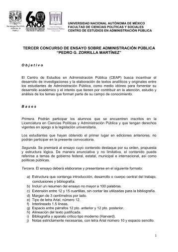 pedro g. zorrilla martínez - Facultad de Ciencias Políticas y Sociales ...