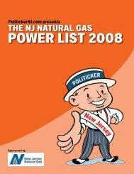 Power lisT 2008 - PolitickerNJ.com