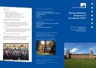 Masterstudiengang Deutsche und Europäische Politik - Institut für ...