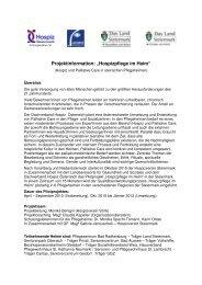 Projektinformation Hospizpflege im Heim - Politik - Land Steiermark