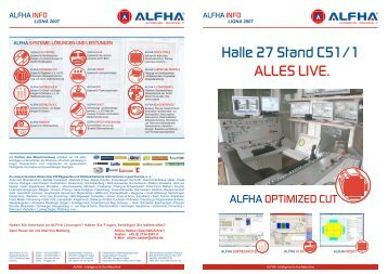 Halle 27 Stand C51/1 ALLES LIVE. - ALFHA