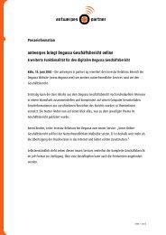 antwerpes bringt Degussa Geschäftsbericht online - DocCheck AG