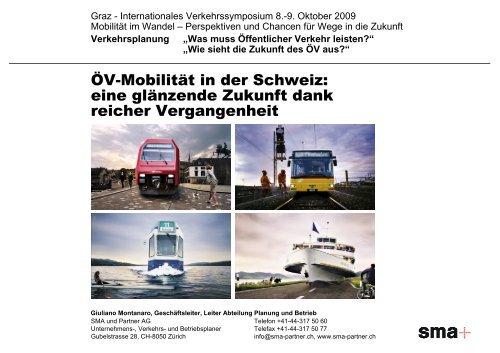 ÖV-Mobilität in der Schweiz: eine glänzende Zukunft dank reicher ...