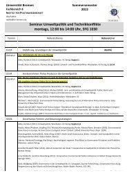 Umweltpolitik und Technikkonflikte - Institut für Politikwissenschaft ...