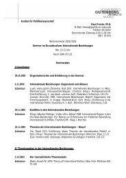 Seminarplan - Institut für Politikwissenschaft