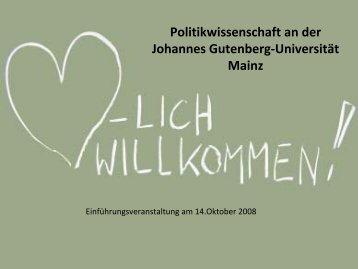 Modulübersicht zum BA Kernfach - Johannes Gutenberg-Universität ...