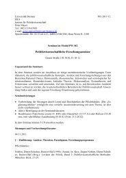 Seminar - Institut für Politikwissenschaft - Universität Bremen