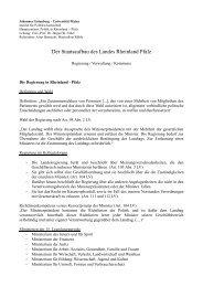 Sitzung 4: Der Staatsaufbau - Institut für Politikwissenschaft ...
