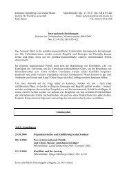 Mo., 15.30-17 Uhr, SB II 05-44 - Institut für Politikwissenschaft ...