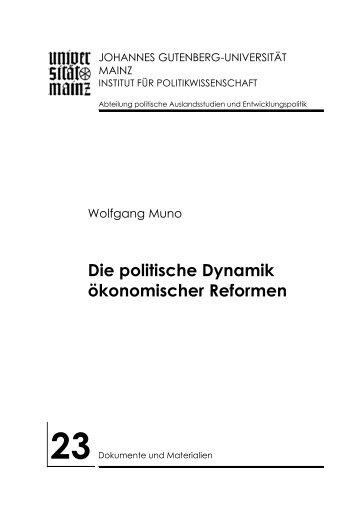 2. Die politische Dynamik ökonomischer Reformen - Institut für ...