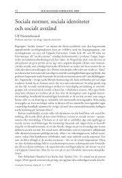 Sociala normer, sociala identiteter och socialt avstånd - Politiken.se