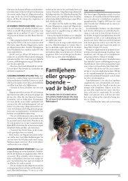 Familjehem eller grupp- boende – vad är bäst? - Politiken.se
