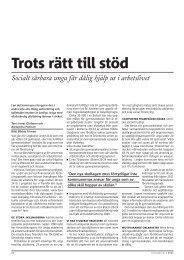 Trots rätt till stöd - Politiken.se