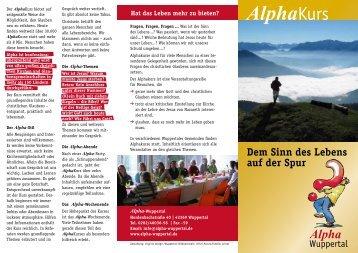 finden die AlphaKurse statt - Alpha Wuppertal