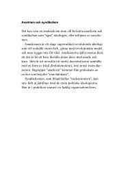 Anarkism och syndikalism Det kan vara en smaksak ... - Politiken.se