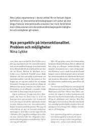Nya perspektiv på intersektionalitet. Problem och ... - Politiken.se