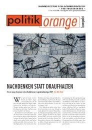 NacHDeNkeN statt DRauFHalteN - Politikorange.de