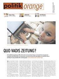 QUO VADIS ZEITUNG ? - Politikorange.de