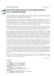 deutschlands beste schülerzeitungen 2013 ... - Politikorange.de